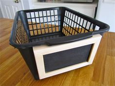 Oh, Baby:  DIY Nursery Decor Under $30 - How to Make Small Chalkboard Baskets for Better Organization