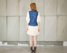 Colete jeans dupla face da marca Coleteria ♡ - Coletes exclusivos   feminino e infantil   Coleteria ♡