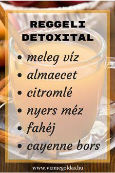 Fogyókúrás ételek - detox víz Healthy Juices, Cocktails, Drinks, Cooking Timer, Healthy Life, Smoothie, Detox, Healthy Recipes, Snacks