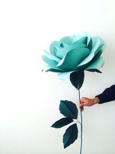 Mint Paper Rose - Eco-Friendly Huge Giant Decorative Flower for Weddings, Bridal Shower, Baby Shower Crepe Paper Flowers Tutorial, Paper Flowers Craft, Large Paper Flowers, Paper Flower Backdrop, Giant Paper Flowers, Paper Roses, Diy Flowers, Backdrop Decorations, Paper Decorations