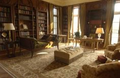 victorian library design | Shining Victorian Homes Interior Design