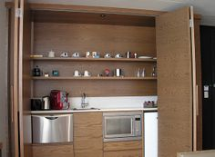 The Amazing Hidden Kitchen Choosing The Furniture Basement Kitchen, New Kitchen Cabinets, Kitchen Units, Kitchen Office, Apartment Kitchen, Kitchen Wood, Kitchen Sink, Vintage Kitchen, Kitchen Appliances