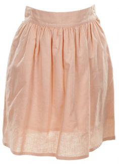 Peachy Cotton Skirt 80s - Vintage clothing from Rokit -