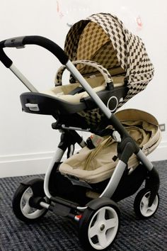 Stokke Crusi pram as a double stroller featuring NEW Cube Style Kit | On site at The Baby Show UK