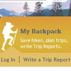 """My Backpack"" lets you click and save hikes you have done or want to do. It's like Epicurious for hikers!"
