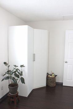 White PAX corner unit