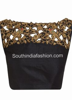 Cut work saree blouse