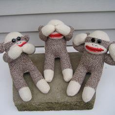 Three Wise Sock Monkeys