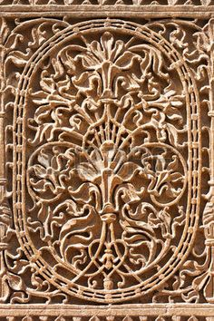 jaisalmer: Pattern of the Patwon ki Haveli in Jaisalmer, Rajasthan state in India Éditoriale Jaisalmer, Buddha Sculpture, Wall Sculptures, Indian Architecture, Amazing Architecture, Indus Valley Civilization, States Of India, Buddha Painting, Tree Of Life