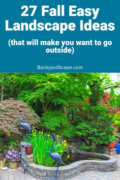 Want to spruce up your backyard for fall? Here are great fall landscape ideas for the fall feel in your favorite outdoor space. Backyard Fences, Backyard Projects, Fun Projects, Backyard Lighting, Outdoor Lighting, Home Landscaping, String Lights Outdoor, Lawn And Garden, Courtyards