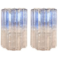 Venini - Pair of Calza sconces   From a unique collection of antique and modern wall lights and sconces at https://www.1stdibs.com/furniture/lighting/sconces-wall-lights/