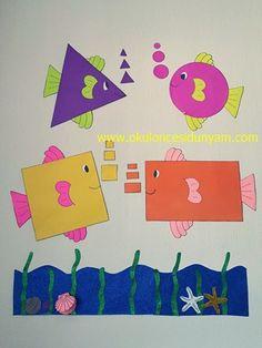 okul öncesi şekiller grafik örnekleri