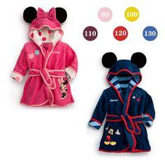 2018 Automne Hiver Enfants Peignoirs de Bande Dessinée Garçon Minnie Pyjama 2 6 Ans Enfants Minnie Fille Robes Bébé Filles vêtements dans Peignoirs de Mère et Enfants sur AliExpress.com | Alibaba Group