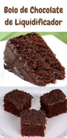 Blender Chocolate Cake Recipe- Receita de Bolo de Chocolate de Liquidificador Chocolate Blender Cake Recipe – Check It Out … - Coconut Hot Chocolate, Homemade Chocolate, Chocolate Recipes, Chocolate Cake, Cake Recipes, Snack Recipes, Salty Cake, Pumpkin Spice Cupcakes, Savoury Cake