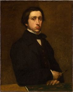 Edgar Degas - self portrait- mid and late 1800s to early 1900's. famous for painting dancers and horses. He was the anti impressionist impressionist. One of the founding fathers he rejected the term and some of the ideas but exhibited with the originals. He lived a mostly isolated life and was hard to befriend and liked it that way. Even his friends found him hard to like. I adore the artist.