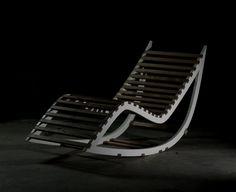 CAPRICE.12 Alessandro S. Rocking chaise longue Capriceone.it #design #madeinitaly #artigianato #handcraft #wood #luxory https://it.pinterest.com/alessandroasfac/caprice-my-works/