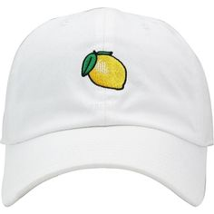 Lemon Dad Hat Baseball Cap Unconstructed ❤ liked on Polyvore featuring accessories, hats, baseball hat, ball cap hats, adjustable hats, adjustable baseball hats and cotton hat