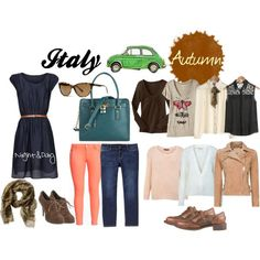 What to Wear in Italy - Autumn by travelfashiongirls, via Polyvore