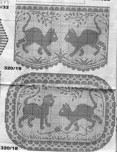 ru / Photo # 39 - different - irinika Crochet Cat Pattern, Crochet Cross, Crochet Stitches Patterns, Crochet Home, Thread Crochet, Crochet Designs, Cross Stitch Patterns, Crochet Curtains, Crochet Tablecloth