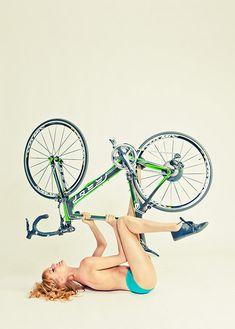 Girl with road bike
