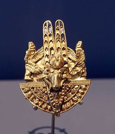 *SHIELD-RING: with Amun as crowned ram's head from tomb of QUEEN AMANISHAKHETO