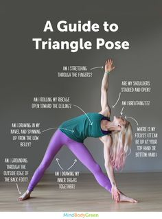 How To Do Triangle Pose (Cute Infographic!)