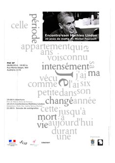 One more flyer to Michel Foucault Study Group PUC SP