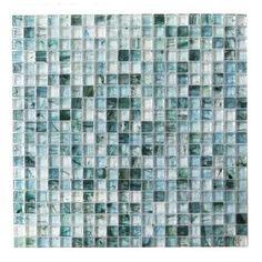 "Abolos 4D Cube 0.63"" x 0.63"" Glass Mosaic Tile in Lagoon"