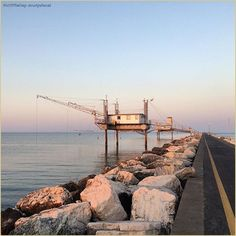 """""""Simboli della Romagnolità"""" La #PicOfTheDay #turismoer di oggi passeggia in buona compagnia tra i capanni da #pesca lungo il molo di #PortoCorsini. Complimenti e grazie a @rudyshecat / """"Romagna's symbols"""" Today's #PicOfTheDay #turismoer strolls in good company among the fishing huts along #PortoCorsini's #dock. Congrats and thanks to @rudyshecat Hidden Places, Storytelling, Instagram Posts, Travel, Tourism, Fishing, Sicily, Venice, Italy"""