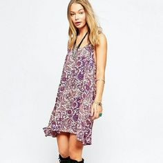 "📣LOWEST📣 Free People Emily Slip Dress NWT Lightweight woven fabric Scoop neckline All-over print Cut-out back Loose fit, falls loosely over the body Machine wash 60% Cotton, 40% Nylon Our model wears a US XS and is 5'7"" tall Retails for $68 Free People Dresses Mini"