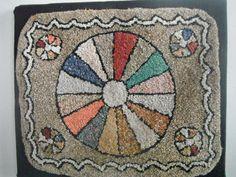 Beautiful vintage hooked rug