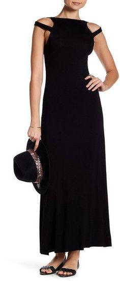 Clayton Sylvia Cold Shoulder Maxi Dress