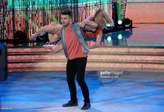 Italian judoka Fabio Basile and his dance partner Anastasia Kuzmina perform on the Italian TV show 'Ballando Con Le Stelle' at Auditorium Rai on April 22, 2017 in Rome, Italy.