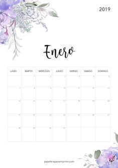 Calendar 2019 Printable, Calendar Notes, January Calendar, 2019 Calendar, Calender Print, Bullet Journal 2019, Diy Letters, Planner Stickers, Hand Lettering