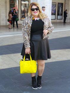 #NYFW Plus size street style Looks we love- Nicolette Mason