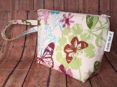 Butterfly Makeup Bag Cosmetic Bag Gadget Bag by MurphyMadeIt