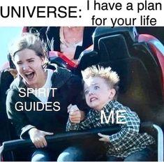Funny Relatable Memes, Funny Jokes, Hilarious, Funny Spiritual Memes, Witch Jokes, Yoga Lyon, Good Vibe, Lol, Spirit Guides