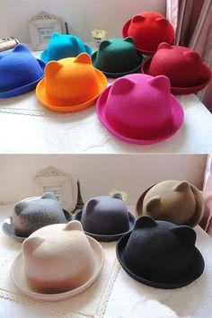 Glitz and Glitterz: [PRE-ORDER] Cutie Cat Ears Bowler Hat Batch 2