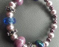 Lavender Beaded Bracelet