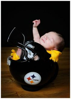 I want to do this when I have babies, but I may have to compromise and also do this with a Browns helmet.