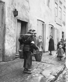 At first the Jews of Eastern Europe had been forced into  ghettos. The Nazis took pictures of the very basic conditions they were forced to live in. By now most of the men women and children were dead.