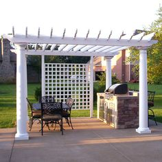 Sophisticated Grill Island & Pergola will Impress Any Guests & Visiting In-Laws