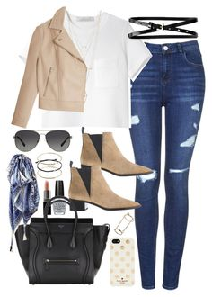 """Outfit for shopping in autumn"" by ferned ❤ liked on Polyvore featuring Topshop, Proenza Schouler, Acne Studios, T By Alexander Wang, Banana Republic, OPI, Smashbox, Kate Spade, Charlotte Russe and ASOS"