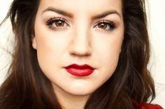 tutorial for daytime appropriate red lip www.iamalizarin.blogspot.com