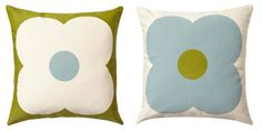 From the gorgeous Orla Kiely cushion collection, this giant abacus cushion in olive and duck egg blue has different designs on the front and back. Image shows both sides. Velvet Cushions, Floor Cushions, Duck Egg Blue Interiors, Orla Kiely Cushions, Duck Egg Cushions, Couch Pillows, Throw Pillows, Cushions Online