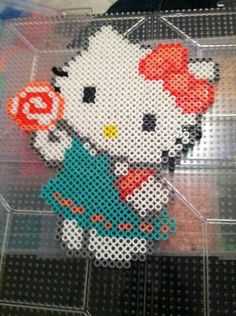 Hello Kitty perler beads by Kawaii Ai Creations