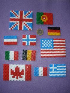 Banderas del mundo Hama Beads