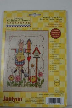 #Janlynn #027-0119 #Birdhouse #Angel #Counted #Cross #Stitch #Kit  #Janlynn#GardenCharms