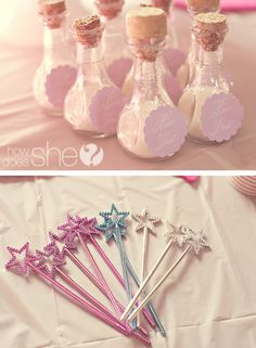 pixie dust for fairy party...maybe since Ri cant decide what kind of party, we can do a magical forest party? With fairies, dragons and princesses hahaha