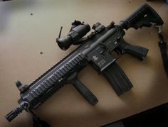 Heckler and Koch 416. Nice little package but still packs a powerful punch.